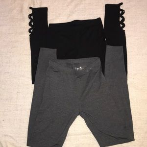 Two pair Small leggings NWOT